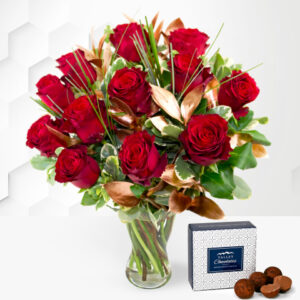 12 Luxury Red Roses - Valentine's Flowers - Valentine's Roses - Red Roses - Valentine's Day Roses - Valentine's Flower Delivery